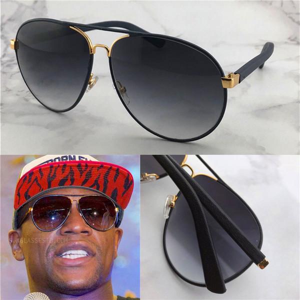 클래식 스타일의 도매 남자 야외 보호 안경 2887 파일럿 가죽 프레임 패션 디자이너 안경 최고 품질의 관대 한 안경