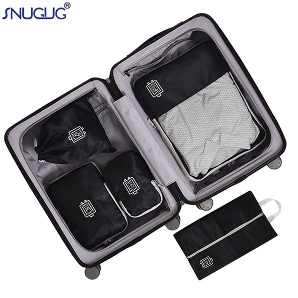 5PCS/Set High Quality Polyester Cloth Travel Bag Luggage Organizer Packing Cube Organiser Travel Bags Bags Packing Cube