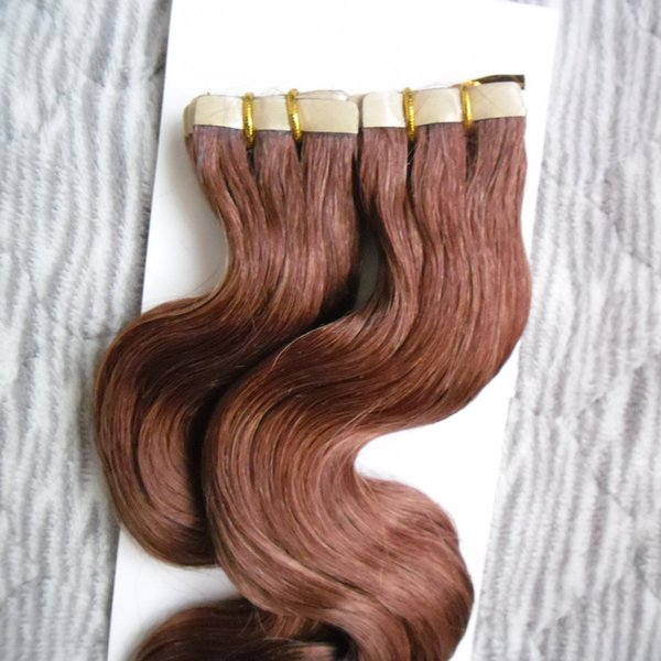 40pcs body wave Brazilian Virgin Remy Tape Hair Extensions 100g Machine Made Remy Hair On Adhesives Tape PU Skin Weft Invisible