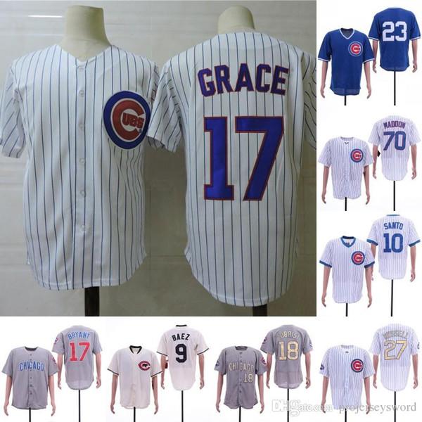 # 17 Mark Graça Cubs Jerseys Chicago David Ross Daniel Murphy Javier Baez Ron Santo Jason Heyward Ben Zobrist Kyle Schwarber Addison Russell