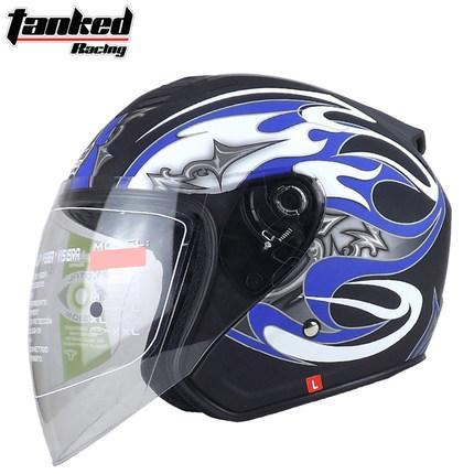 2018 New fashion Tanked Racing Half face Motorcycle helmets four seasons motorbike electric bicycle safety helmet T536