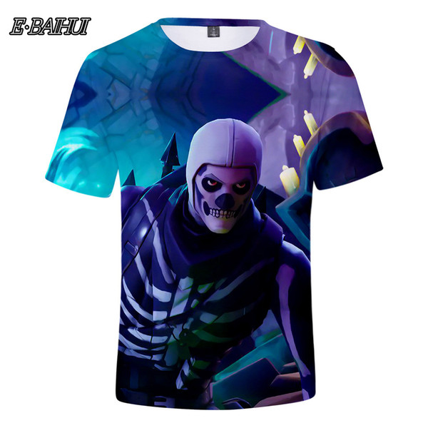 E-BAIHUI Men's Fashion 3D Comics Game Casual Festival Cosplay Streetwear Style Short Sleeve T-Shirt 00424
