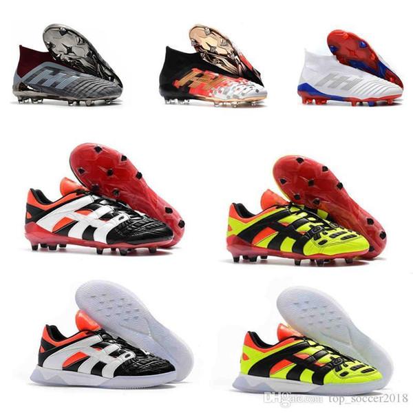 Superfly Futbol Cleats Mercurial Orijinal Predator 18 x Pogba FG Hızlandırıcı Elektrik Çocuk Futbol Ayakkabıları ACE18.1 Erkek Futbol Çizmeler