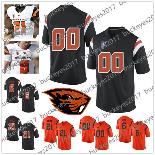 Custom Oregon State Beavers Any Name Number Black White Orange Stitched #8 Trevon Bradford 81 Noah Togiai NCAA College Football Jersey