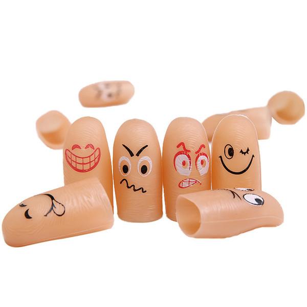 Nouveau Funny Expressive Face Simulation Fingers Magic Props Thumb Tip Coax Bébé Jouet Marionnette Grifts pour enfants