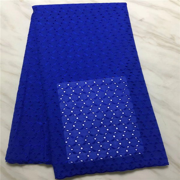 BEAUTIFICAL YELLOWE african swiss voile lace fabric 5yards 2017 Free shipping Latest Laser Cutting eyelet cotton lace PL010502