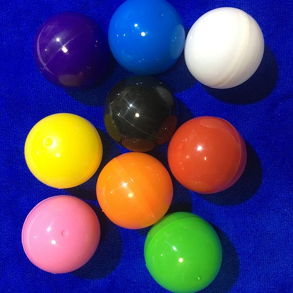 100pcs / lot 40mm balle en plastique coloré pour distributeur automatique jouet en plastique balles balle cadeau surprise balle d'emballage