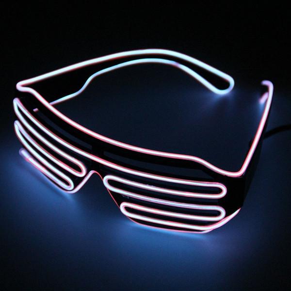 LED نظارات للحزب تضيء ظلال اللمعان الهذيان إضاءة ديكورية برايت Activing الدعائم مهرجان لون عشوائي