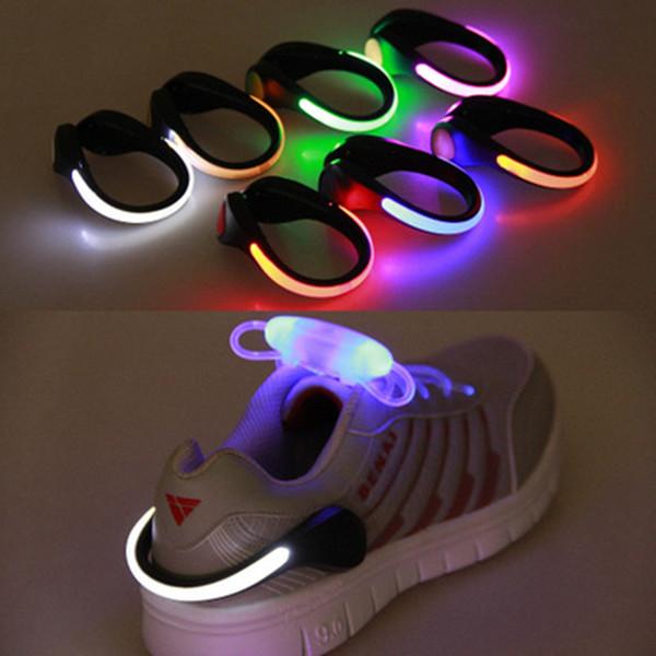 LED Işık Ayakkabı Klip Işık Gece Güvenlik Uyarı Için LED Parlak Flaş Işığı Koşu Spor Bisiklet Bisiklet Amaçlı Işık ZZA427