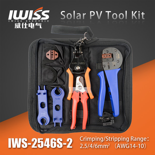 MC4 MC3 multifunction Solar Cable PV Crimping Connector Cutting Tool Spanner Kit