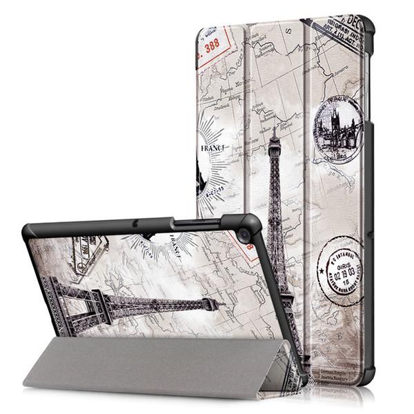 Ultra Slim 3-Folding Capa Case For Samsung Galaxy Tab S5e 10.5 SM-T720 SM-T725 10.5 inch Tablet Funda Cover Smart Wake-Sleep