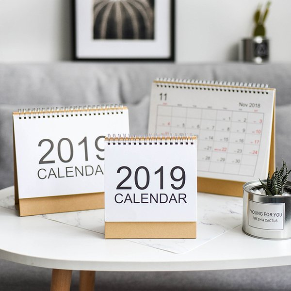 top popular Creativity Home Furnishing Ornamental decoration Living room desktop Study Store Bar counter Display Perpetual calendar Desk calendar 2020