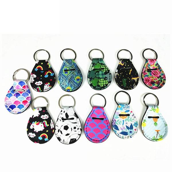 Moda Çiçek Desen Anahtarlıklar Para Tutucu Dudak Palm Tutucu Çiçek Baskı Metal Anahtarlık Parti Hediye TTA890