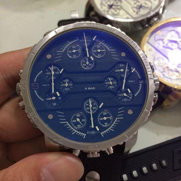 Top Quality DZ Luxury Mens Watches Japan Quartz Movement Multi-time Zone Fashion Military Sport Watch Wristwatches Men's Relojes Best Gift