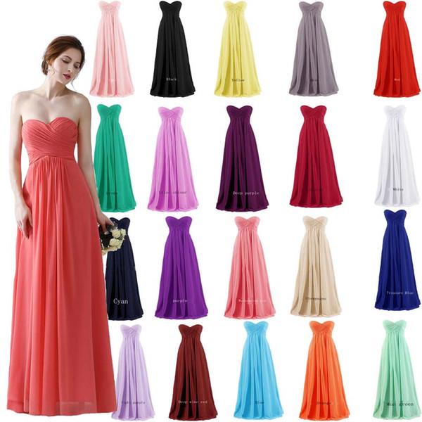 2019 New Multicolor Chest-Put Chiffon Evening Dress Ball Dress