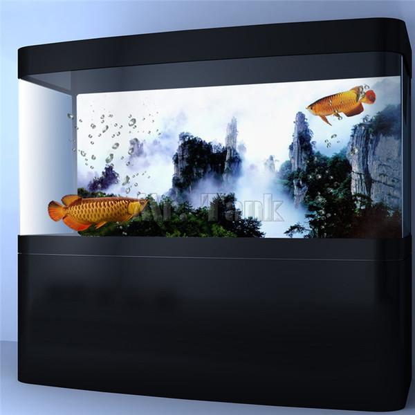 Background Mr.Tank PVC Aquário Poster Wuxia Movie Mountain Ver Fish Tank Fundo Wallpaper Etiqueta Decoração