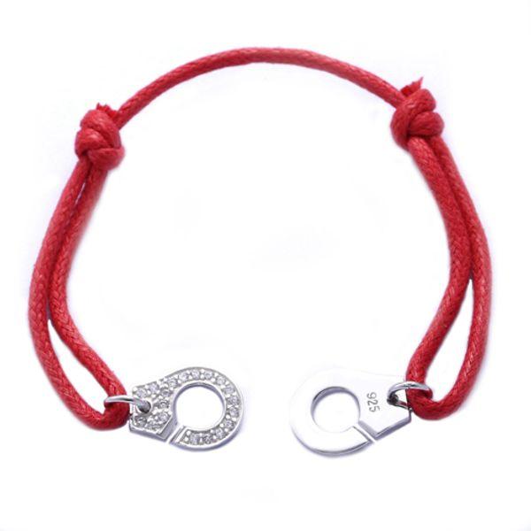 Красная Веревка Половина Камня Серебро