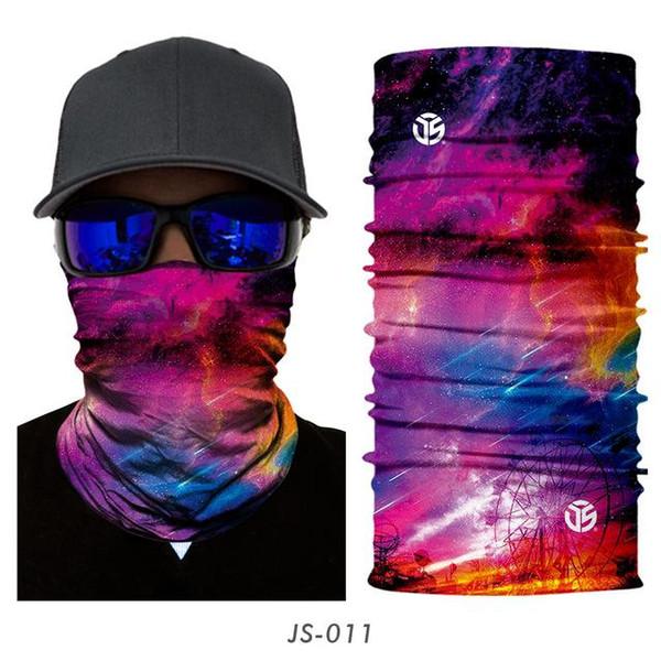 Magic Headwear Cold Galaxy Outdoor Scarf Headbands Bandana Mask Neck Gaiter Head Wrap Mask Sweatband