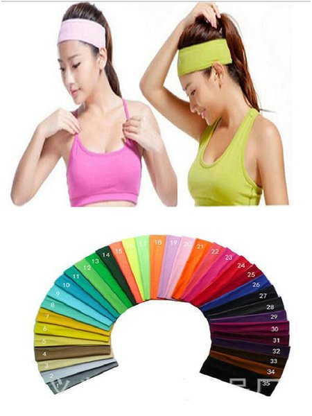5pcs/lot Top Quality Hipsy Cute Fashion No Slip Candy colored sports yoga Hairband Headbands for Women Girls & Teens