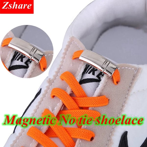 1Pair Magnetic Quick Locking Shoelaces Elastic Flat No Tie Shoe Laces Kids Adult Unisex Shoelace Sneaker Shoe Laces Strings