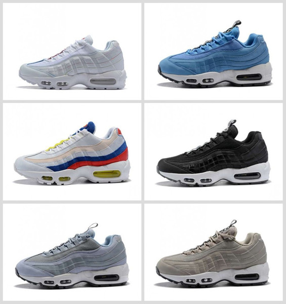 reputable site 4cc54 80b22 New Ultra 95 OG 20th Anniversary Men Running Shoes Triple Black White Grey  95s Sports Sneakers Designer Air Mens Trainers Chaussures 36 46 Mens ...