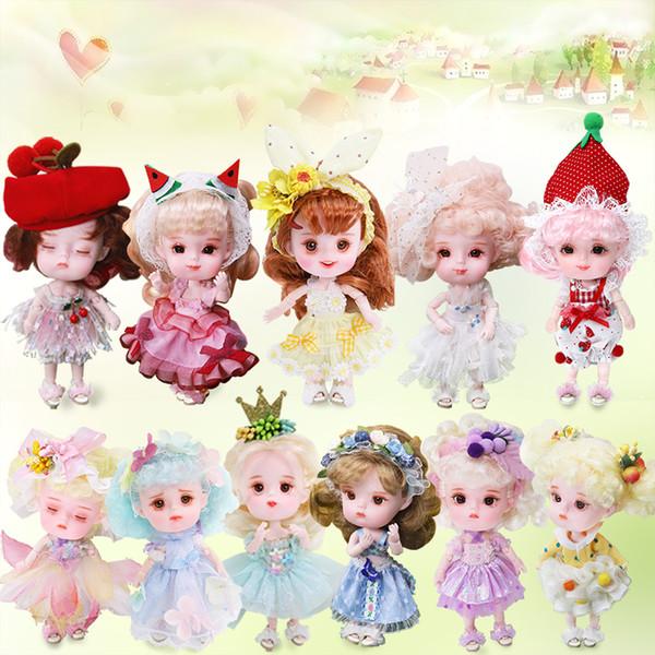 Dream Fairy 1/12 BJD DODO 14cm mini doll 26 joint body Cute children gift toy Holala,Angel surprise doll,ob11