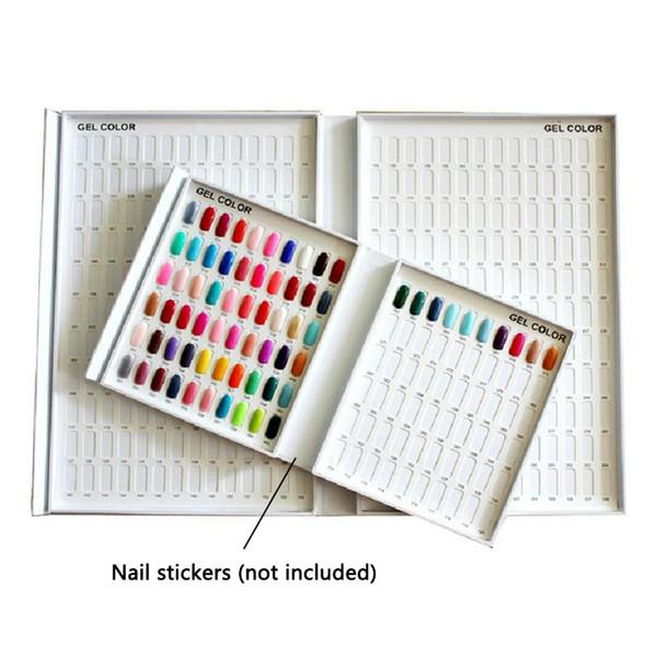 Modelo profissional Prego Gel Polonês Caixa de Exibição de Cor Livro Dedicado 120 Cores Carta Mapa Pintura Manicure Nail Art Ferramentas Atacado