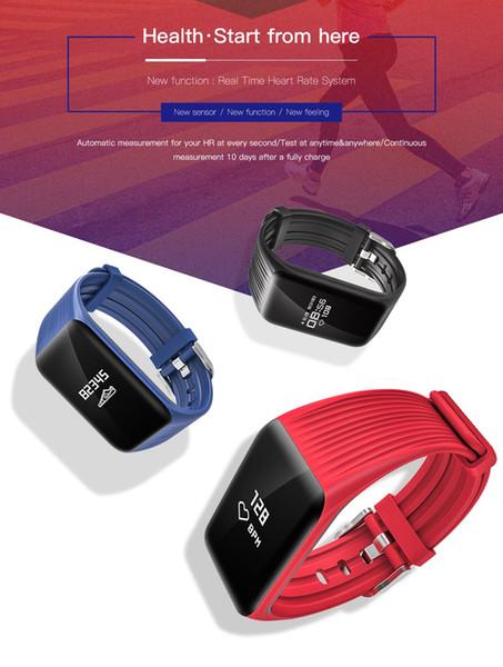 Ritmo cardíaco Rastreador de ejercicios Muñequeras K1 Reloj IP67 Actividad a prueba de agua Monitor continuo Paso Contador del sueño Pulsera inteligente inalámbrica