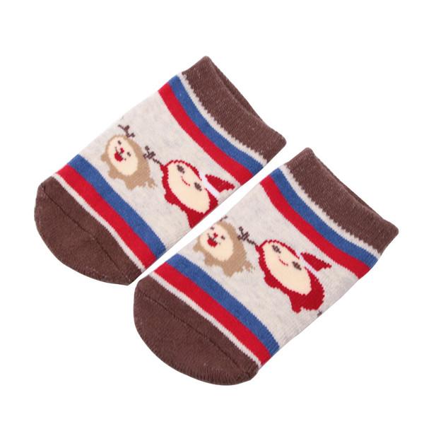1 Pairs Christmas XMAS Baby Infant Socks Newborn Cotton Boys Girls Anti-slip Kawaii Anti-Skid Toddlers Slippers Socks