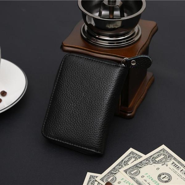Auto Car Document Genuine Leather Cover On Case Bank ID Business Holder Travel Men Wallet Bag Porte Carte Cardholder