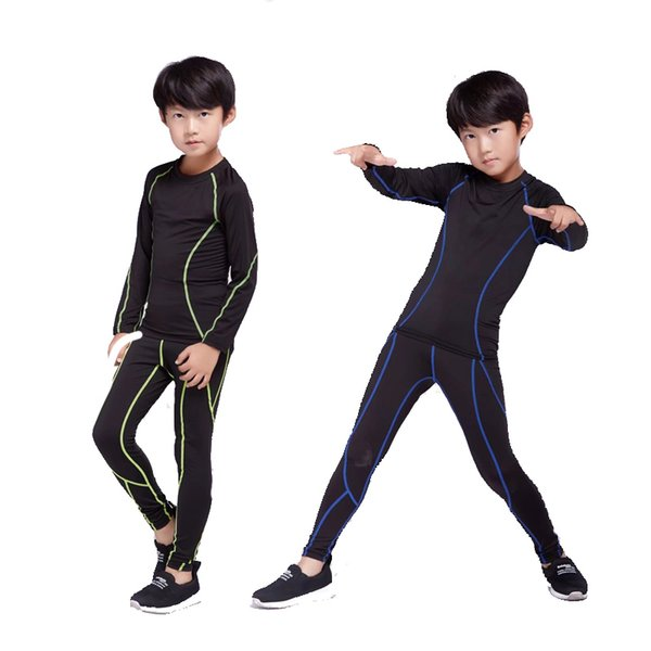 children's winter training thermal underwear base layer sport suit boy girl fitness suit compression quick drying sportswear thumbnail