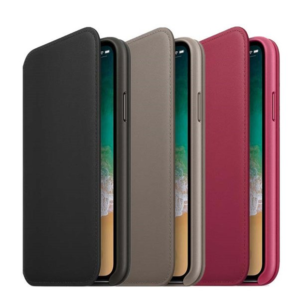 Official Wallet Flip Leather Case for iPhone X XR XS MAX 7 8 plus Original Smart Phone BACK LOGO Card Slot Cover Case With Retail Box