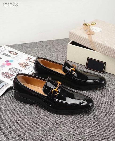 40ss nouvelle arrivée italienne meilleure qualité nouveau concepteur classique meilleure qualité hommes chaussures en cuir boîte originale casual chaussure brun blanc