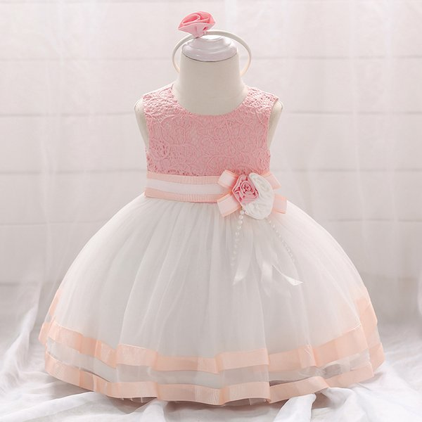 2019 Summer Baby Girls Dress For Girls Princess Dress Infant Wedding First Birthday Girl Party Dress Clothes Clothing 6 12 Month Y19050801