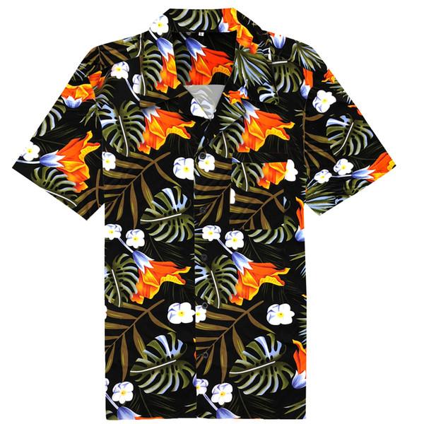 Hawaii Aloha Shirt Mens Medium Monstera Leaf Floral Button Up Blouse Casual Short Sleeved Boho Summer Retro Shirts