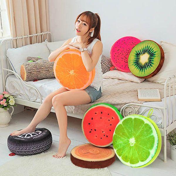 New Creative 3D Summer Fruit PP Cotton Office Chair Back Cushion Sofa Throw Pillow New NVIE