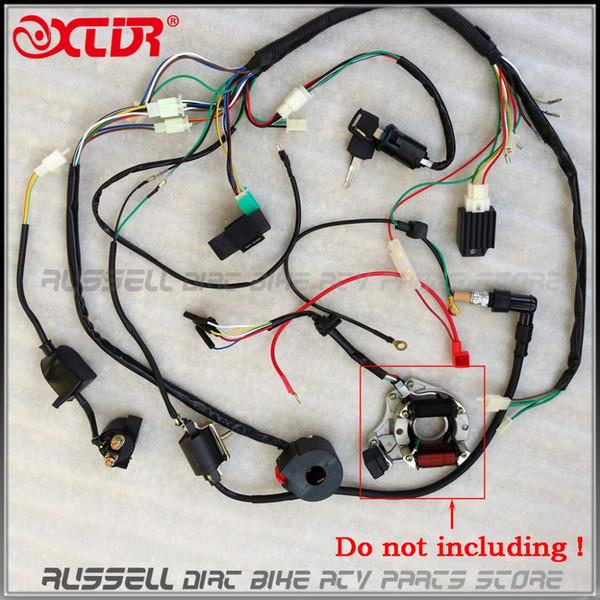 Arnés de cableado eléctrico completo CDI Bobina de encendido Interruptor rectificador 110cc 125cc ATV Quad Bike Buggy gokart