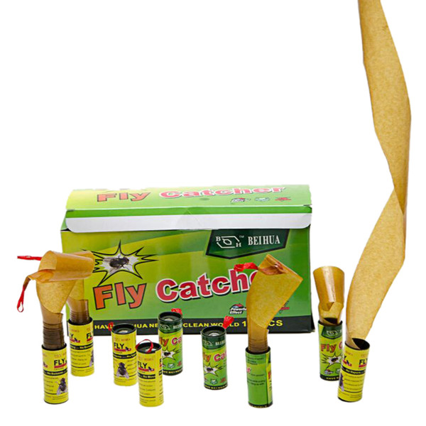 4Pack / 16 Rolls Bug Insect Fly Glue Paper Catcher Armadilha Strip Strip Sticky Fies fie Barato fie