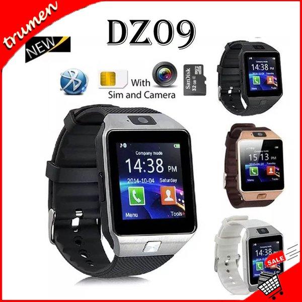 Smart Voir DZ09 Smart SIM intelligente Android Wristband Sport Watch pour Android Cellphones Relógio inteligente avec des batteries de haute qualité