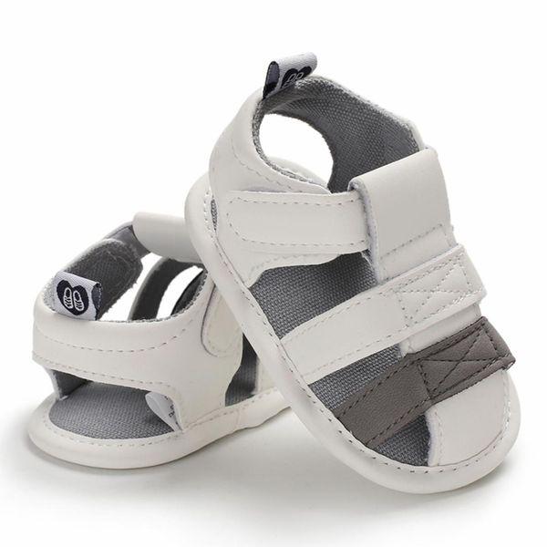 Детские Новорожденный Soft шпаргалки Единственные кожаные ботинки девушки Boy Kid малышей Prewalker сандалии лета дышащий Pu младенец Детская пляжная обувь
