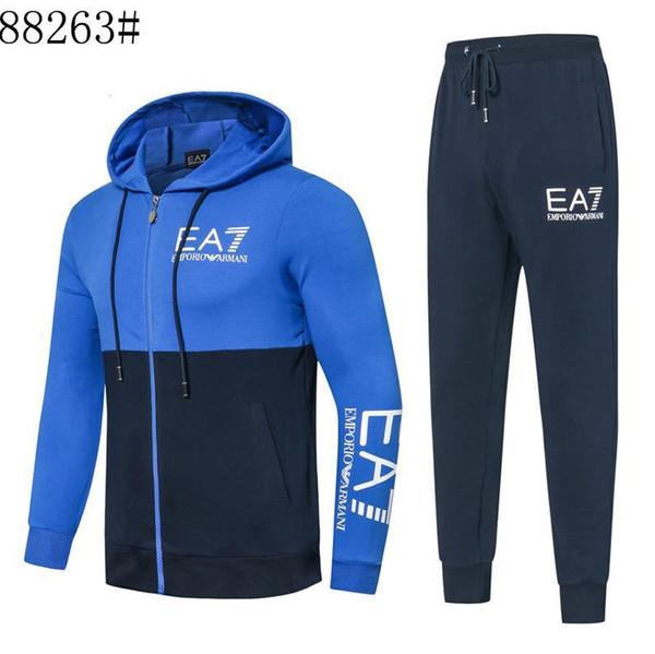 2020 Дизайнеры Tracksuit Men Luxury потовые костюмы Осень TR05 Мужские костюмы Jogger костюмы куртка + брюки Комплекты Спортивные костюмы печати мужчин хлопка