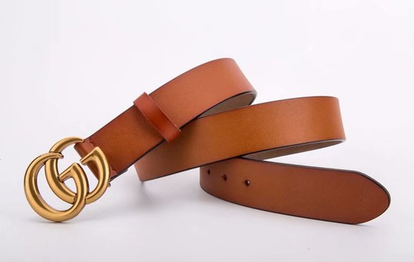 fashionable design belt luxury belt men and women belt casual buckle, Black;brown