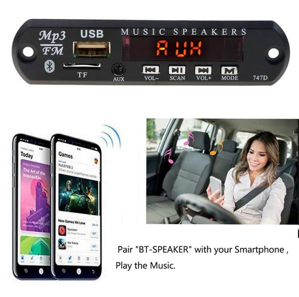 5V 12V Car Wireless Bluetooth MP3 WMA Decoder Board Audio Player Module USB TF AUX FM Radio With Remote Music Speaker