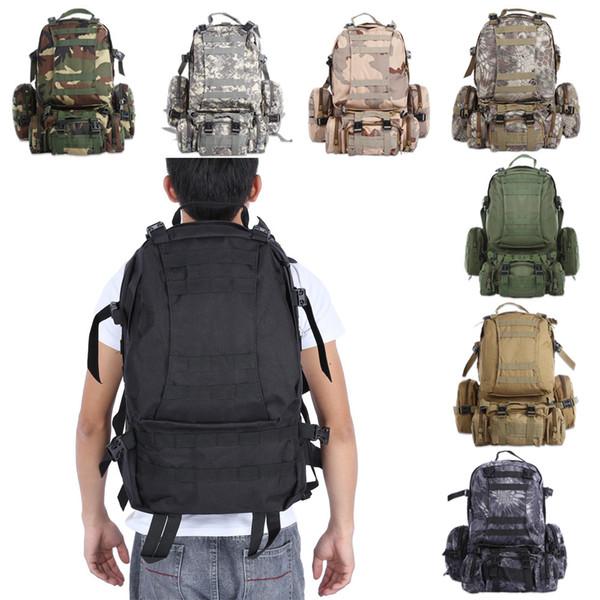 50л открытый рюкзак Молл военная рюкзак рюкзак спортивная сумка кемпинг туризм рюкзак для путешествий в мире