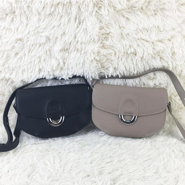 Belle2019 Pepper Choke Silver Buckle The Nose Of A Pig You Genuine Leather Single Shoulder Messenger Mini- Saddle Woman Package Small