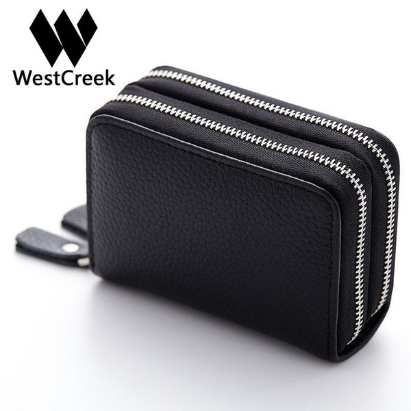 Made Of Genuine Leather Card Holder Wallet High Capacity Holder For Women Coin Purses Pillow Men Card Purse