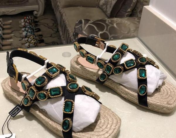 Perceuse Acheter Nouvelle Paille Taille Eau Plate Été À Pêcheur Femmes En Corde Chanvre Grande Cuir Tressée De Sandales Chaussures R5Aj4L