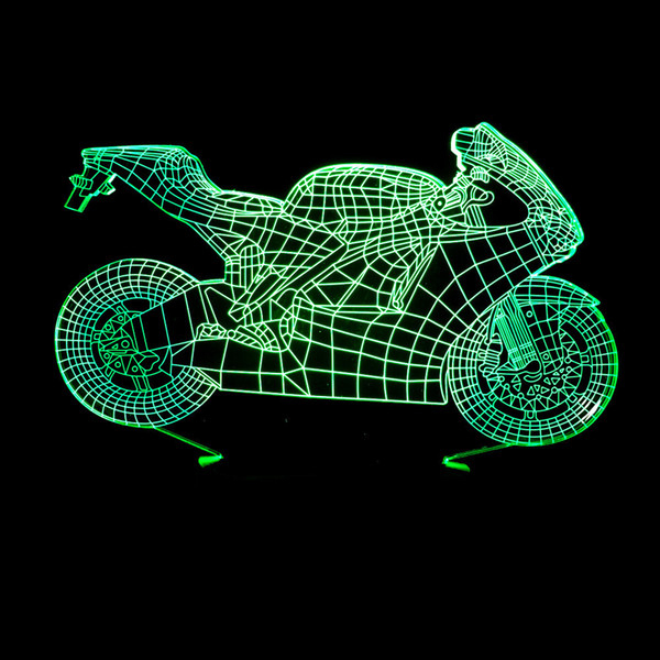 Trade Motorcycle For Car >> 2019 2018 Foreign Trade New Pattern Motorcycle 3d Lamp Colorful Touch Led Vision Lamp Gift Decoration Atmosphere Desk Lamp From Samanthaadam1803