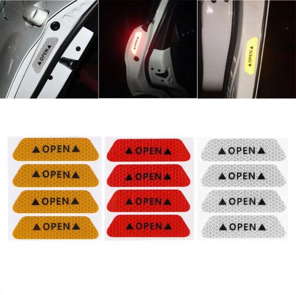 4шт флуоресцентные автомобилей открытые светоотражающие полосы водонепроницаемый предупреждение наклейки ночь вождение безопасности освещение светящиеся ленты