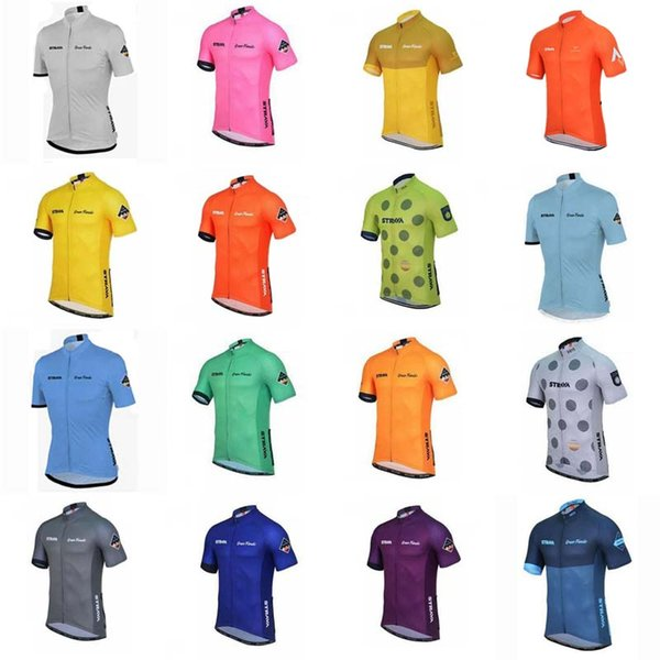 STRAVA team Cycling Short Sleeves jersey Summer for men Bicycle Clothing Good quality and low price D0931